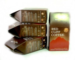 Sampler pack of Red Cliff Coffee in Thailand